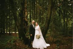 Svatební focení v lese cca 100 m od místa obřadu